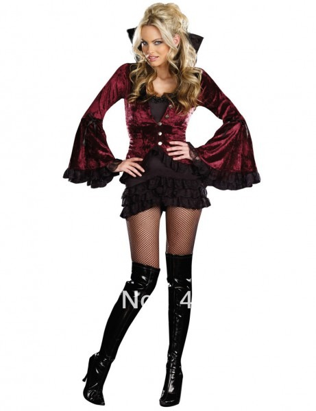 Vampire Costume Ladies & Womenu0027s Classic V&ire Costume Sc 1 St