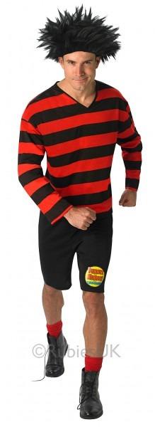 Dennis The Menace Adults Fancy Dress Book Week Tv Cartoon Mens