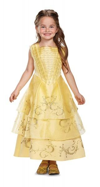 Amazon Com  Disney Belle Ball Gown Deluxe Movie Costume, Yellow