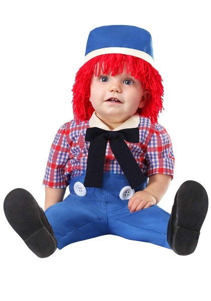 Amazon Com  Infant Boys Rag Doll Costume Blue  Clothing
