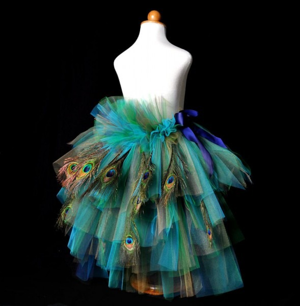 Infant Toddler Peacock Feather Bustle Tutupeacock Pageant Tutu