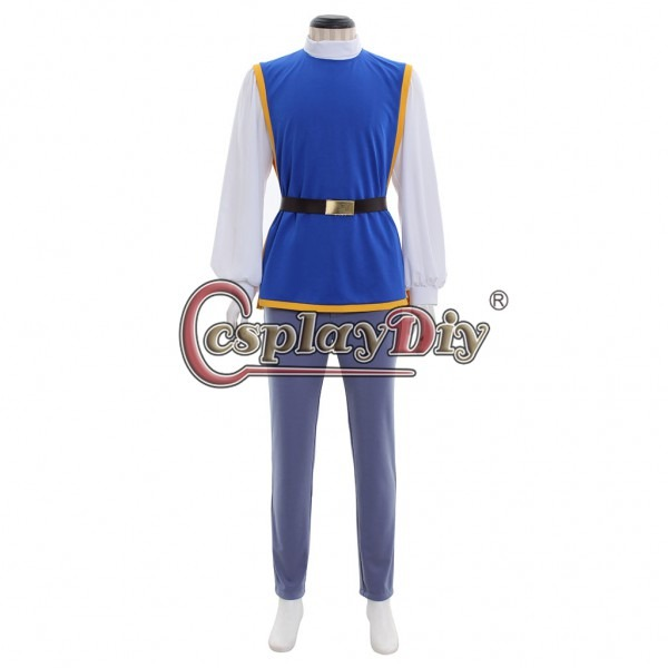 Snow White Prince Charming Cosplay Costume Men Outfit Cloak Full