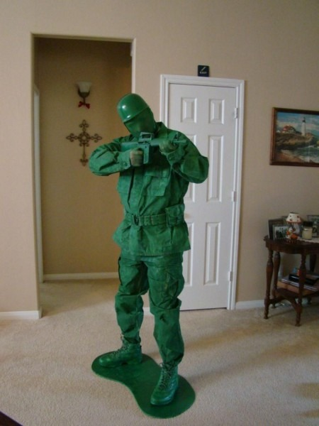 Diy Halloween Diy Costumes  Diy Toy Green Army Man Halloween