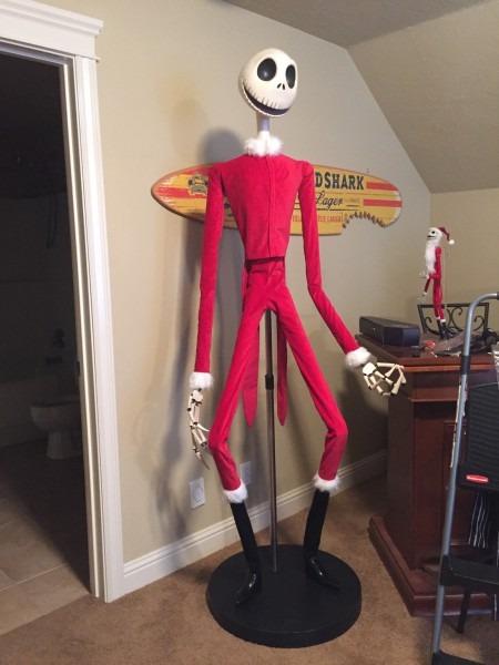 Prop Showcase  Life Size Nightmare Before Christmas Jack (santa