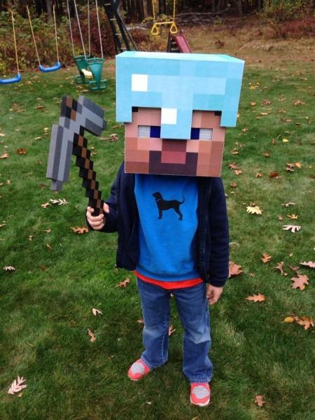 Steve Minecraft Diamond Armor Costume Diy