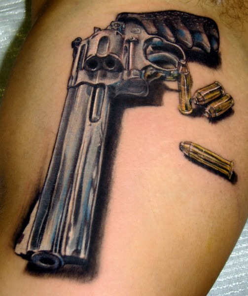 25 Latest Bullet Tattoo Images, Pictures And Ideas