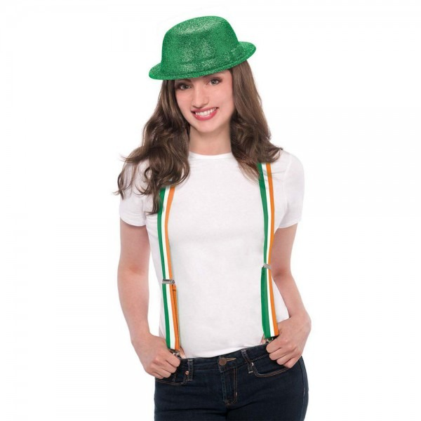 Amscan Irish Flag Striped St  Patrick's Day Suspenders (2