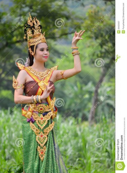 Asian Women In Traditional Costume Stock Image
