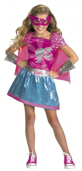 Girls Super Hero Barbie Costume Barbie Costumes