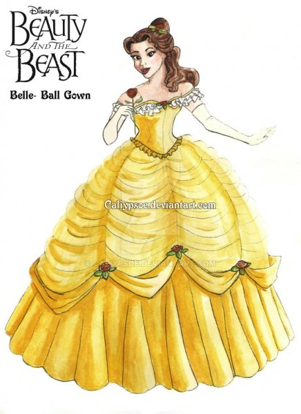 Belle's Ball Gown Costume Rendering By Caliypsoe On Deviantart