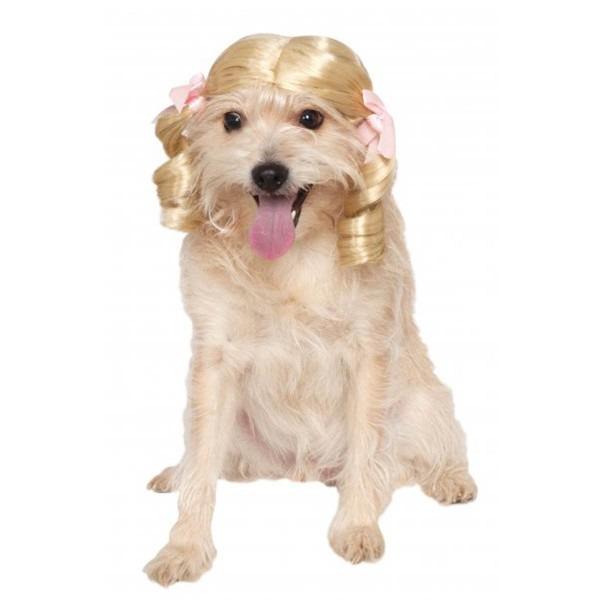 Blonde Curls Wig Dog Costume