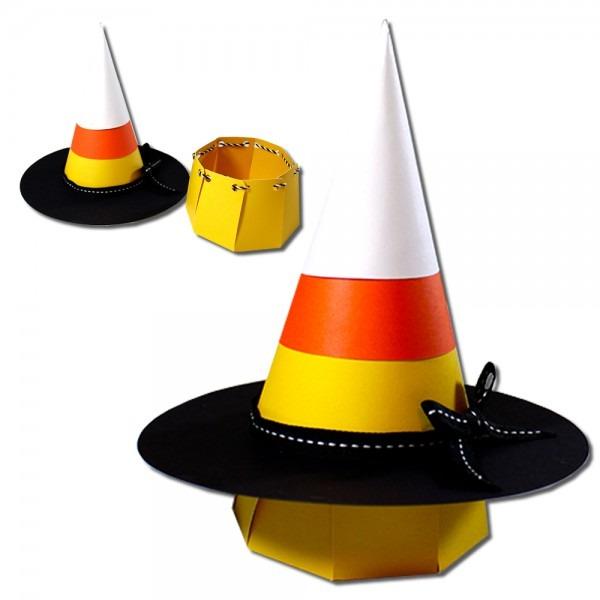 Jmrush Designs  Candy Corn Witch Hat Basket