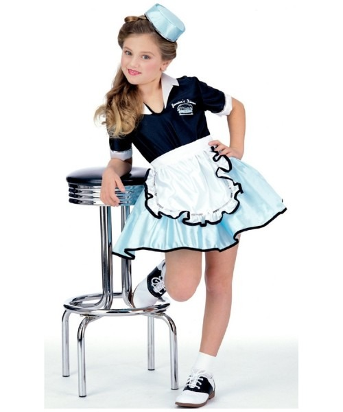 Car Hop Girl Kids Poodle 50s Costume