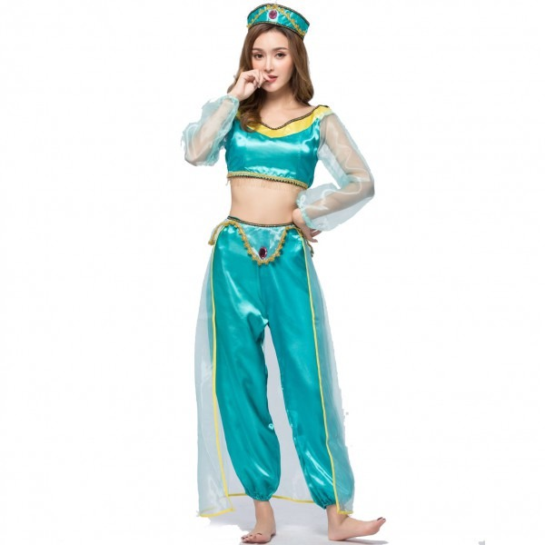Adults Aladdin Costume Princess Jasmine Outfit Girls Halloween