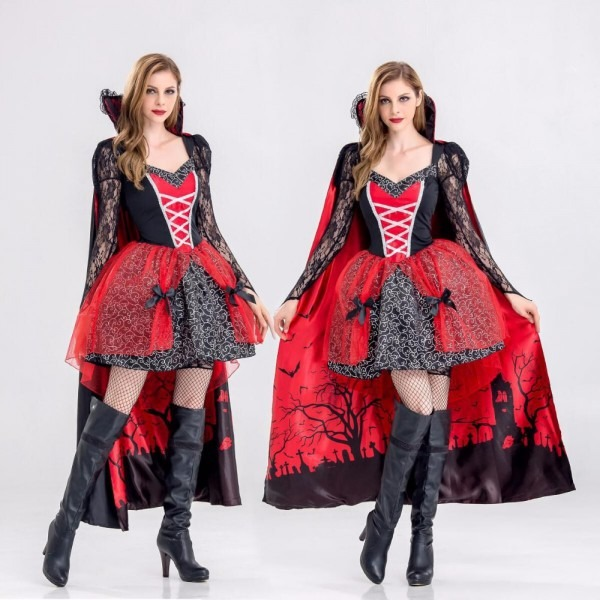 Cfyh Carnival Party Halloween Vampire Costume Evil Queen Clothing