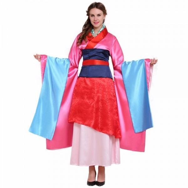 Cosplaydiy Custom Made Asian Hua Mulan Dress Costume Women