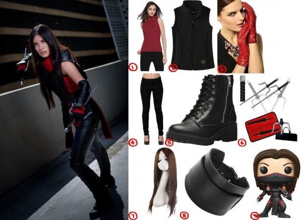 Dress Like Elektra From Daredevil Costume For Cosplay & Halloween
