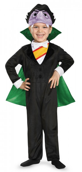 Sesame Street The Count Vampire Toddler Character Costume Jumpsuit