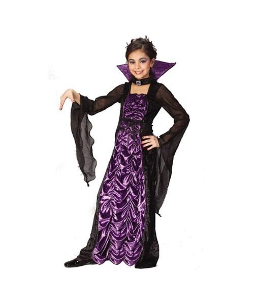 Kids Countess Of Darkness Vampire Halloween Costume