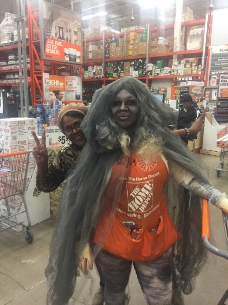 Maple Hts Home Depot On Twitter   Kim Getting In The Spirit Of