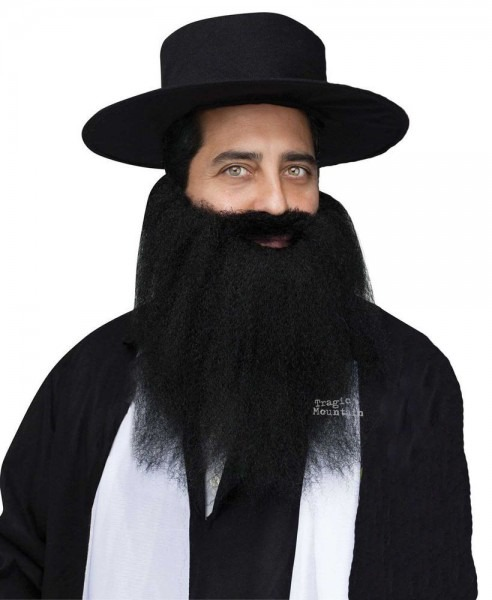 Full Crimped Mustache Beard Zz Top Biker Pirate Hasidic Jewish
