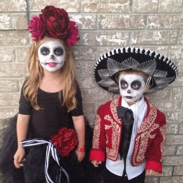 Children's Day Of The Dead Costume  Dia De Los Muertos