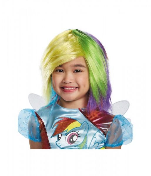 Rainbow Dash My Little Pony Girls Wig