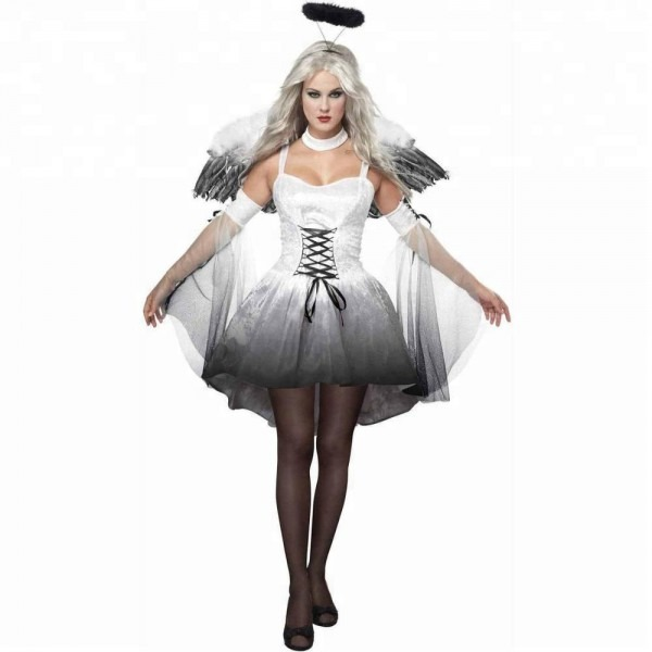 Hot Sale Halloween White Angel Halo Cosplay Party Sexy Adult Women