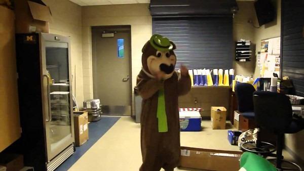 Me In A Yogi Bear Costume Dancing