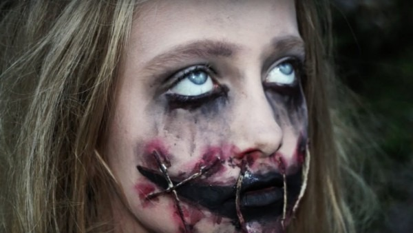 Creepy Girl With Ripped Mouth Halloween Makeup Tutorial   Natalie