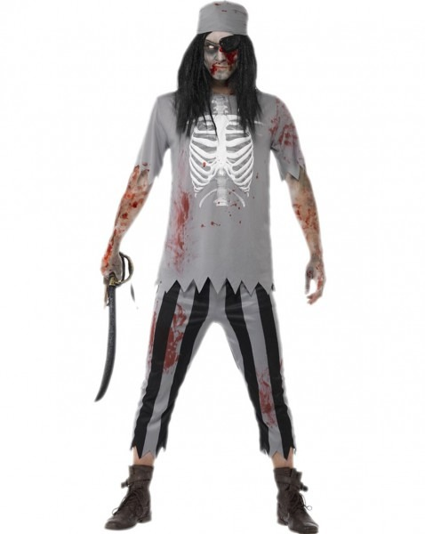 Men Cosplay Pirate Costumes Halloween Zombie Costumes For Adult