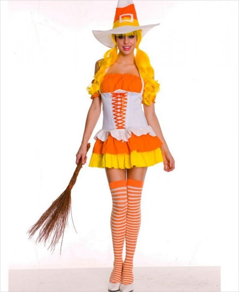 Witty Candy Corn Witch Costume Ml
