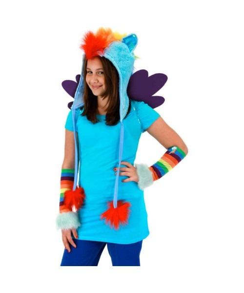 My Little Pony Rainbow Dash Hoodie Girls Hat