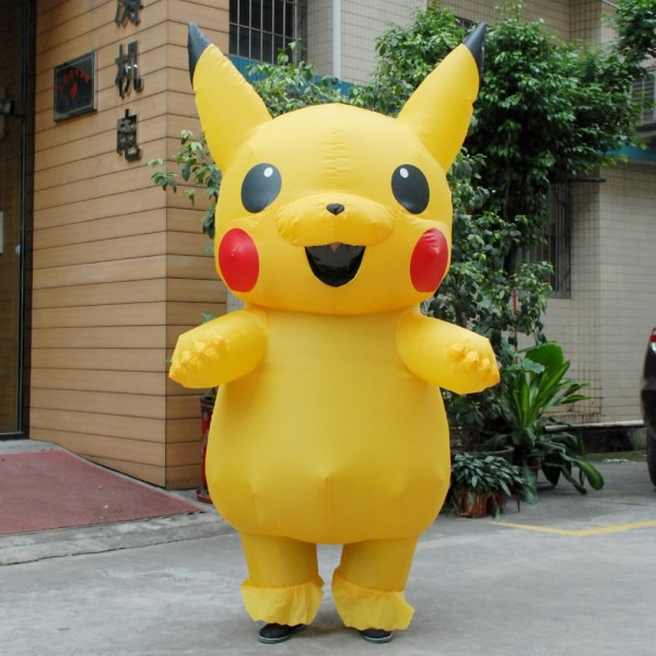 New Yellow Inflatable Pikachu Christmas Costume Blowup Dinosaur