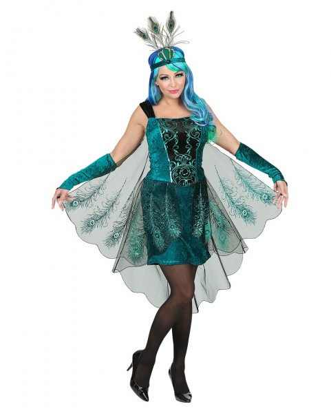 Peacock Fairy Costume With Headdress Fairytale Costume