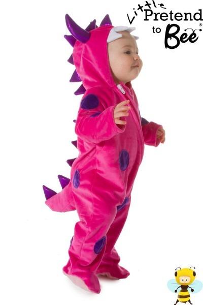 Pink Monster Dinosaur Baby And Toddler Onesie Costume