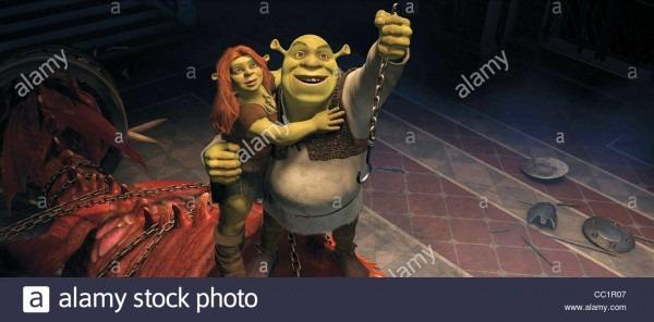 Princess Fiona & Shrek Shrek Forever After (2010 Stock Photo