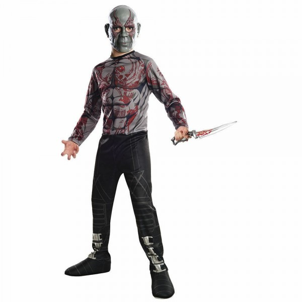 Marvel Comics Drax The Destroyer Boy's 2 Piece Halloween Costume