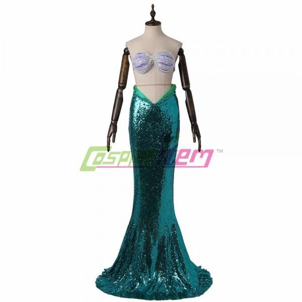 Womens Little Mermaid Costume Adult Ariel Halloween Fancy Dress