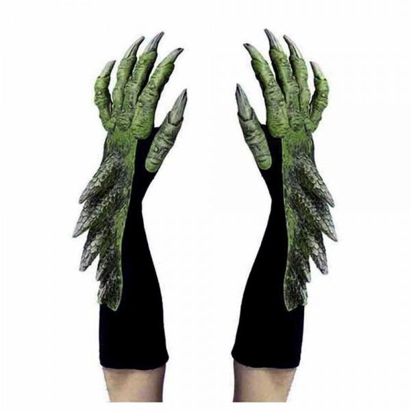 Green Dragon Alien Reptile Claws Hands Cosplay Adult Halloween