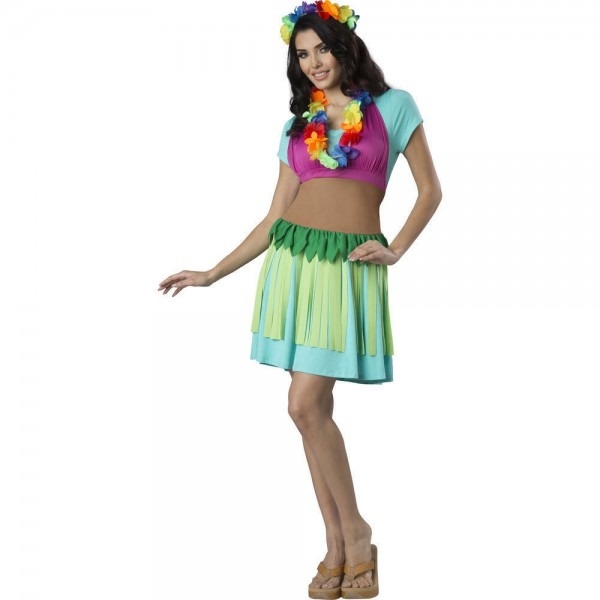 Hawaiian Hula Women's Halloween Costume