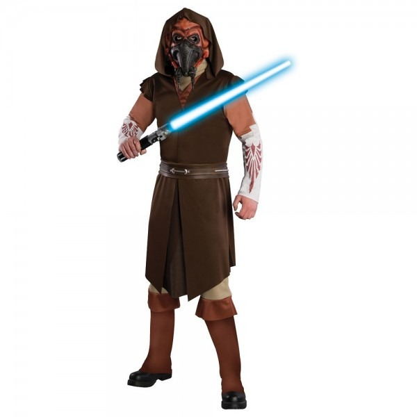 Deluxe Plo Koon Costume Star Wars The Clone Wars Adult Men Jedi