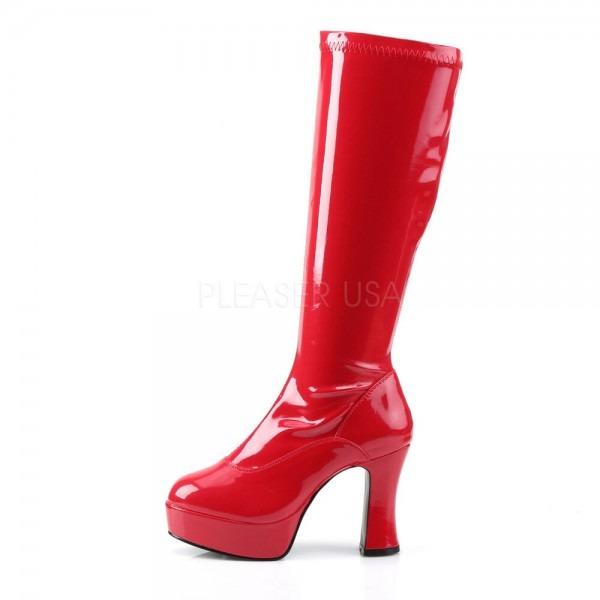 Red Wonder Woman Platform Hippie 60s 70s Gogo Boots Mens Drag