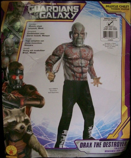 Guardians Of The Galaxy Drax The Destroyer Rubie's 4 6 Halloween