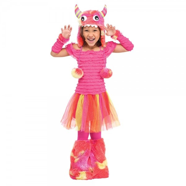 Wild Child Pink Monster Toddler Costume With Hood
