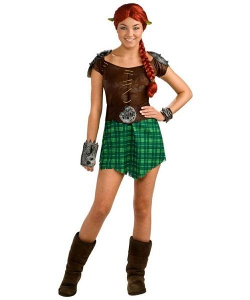 Adult Shrek Forever After Fiona Warrior Movie Costume