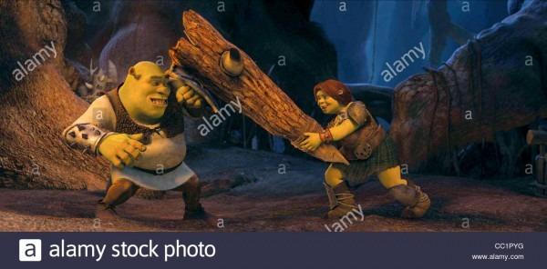 Shrek & Princess Fiona Shrek Forever After (2010 Stock Photo