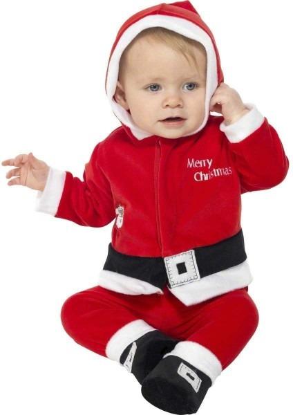 Boys Santa Costume & Plush Child Santa Claus Suit Christmas