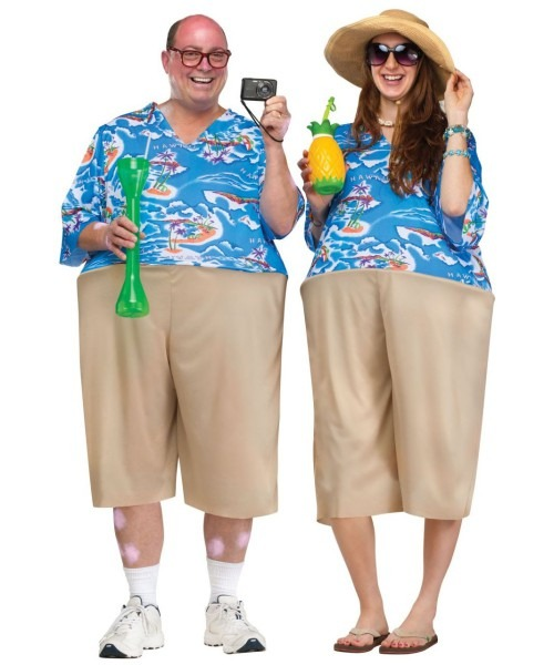 Adult Tacky Tourist Hawaiian Halloween Costume