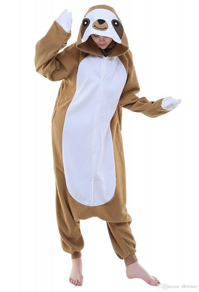 Unisex Adult Animal Cosplay Costume New Sloth Adult Pajamas For